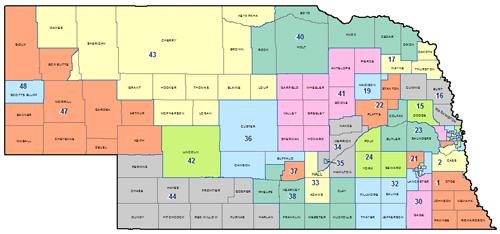 Legislative District Map | Nebraska Council of School Administrators ...
